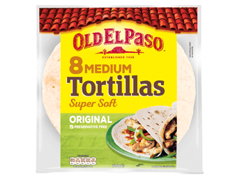 8 Medium Tortillas Super Soft Original