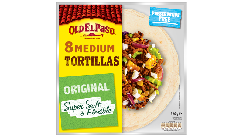 Eight Medium Tortillas Original