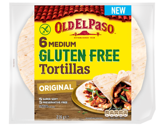 6 Medium Gluten Free Tortilla